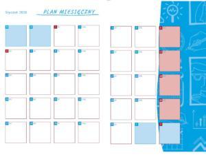 Kalendarz Coachingowy rozkładówka miesięczna