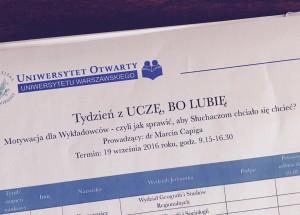 Motywacja dla wykładowców UW Marcin Capiga www.marcincapiga.pl4